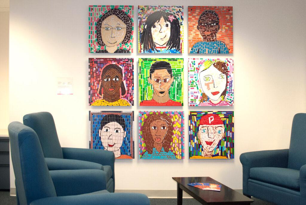 Artwork by Fresh Artists at the CHOP Policy Lab in Philadelphia
